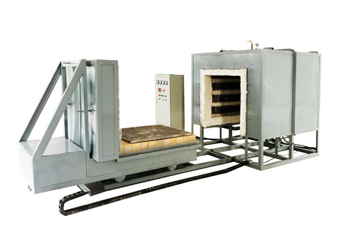 High Temperature Bogie Hearth Furnace , Electric Bogie Type Heat Treatment Furnace