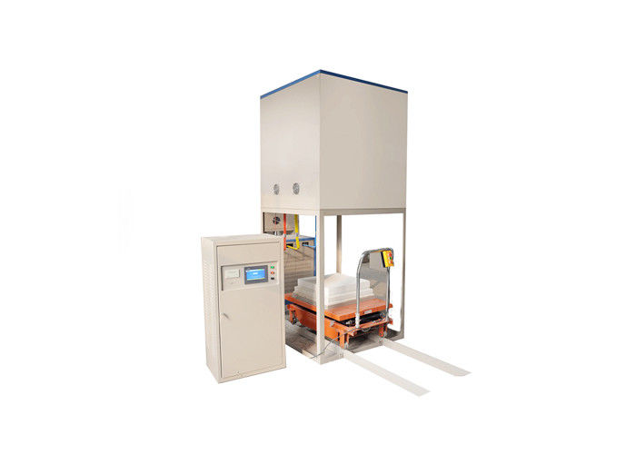 1700 °C Lift Bottom Loading Furnace , Four Side Heating High Efficiency Electric Furnace